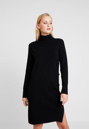 DRESS STRAIGHT FIT - Robe pull - pure black