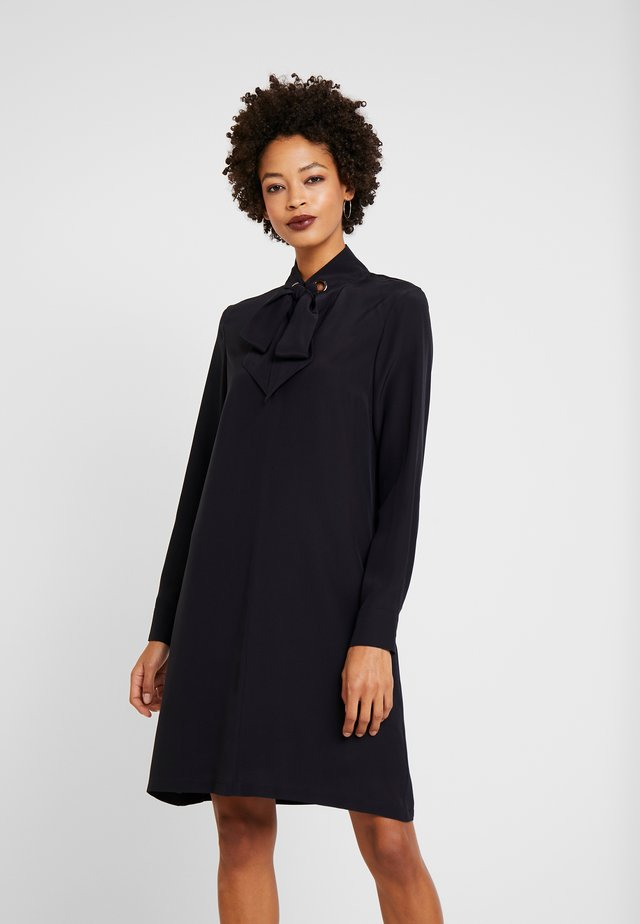 DRESS SLIGHTLY A-LINE STAND UP - Skjortekjole - navy