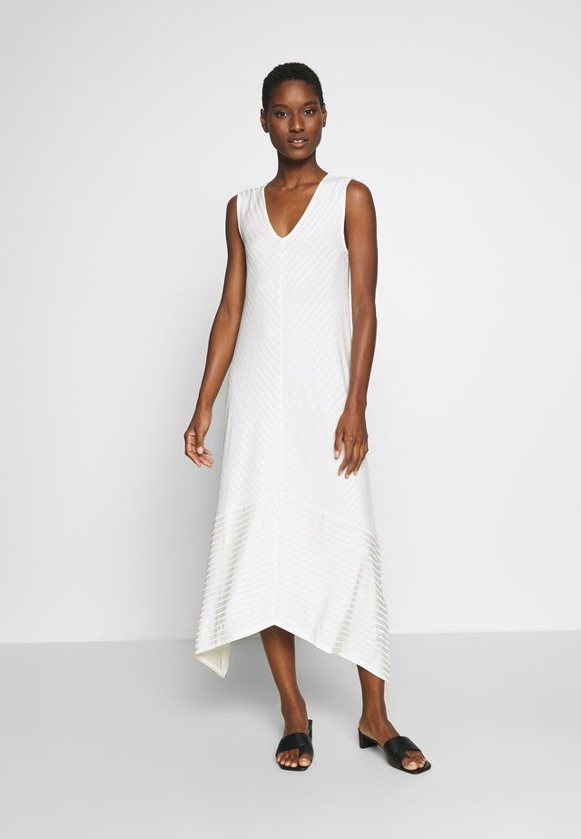 V NECK SLEEVELESS ASYMETRICAL HEM DRESS - Długa sukienka - natural white