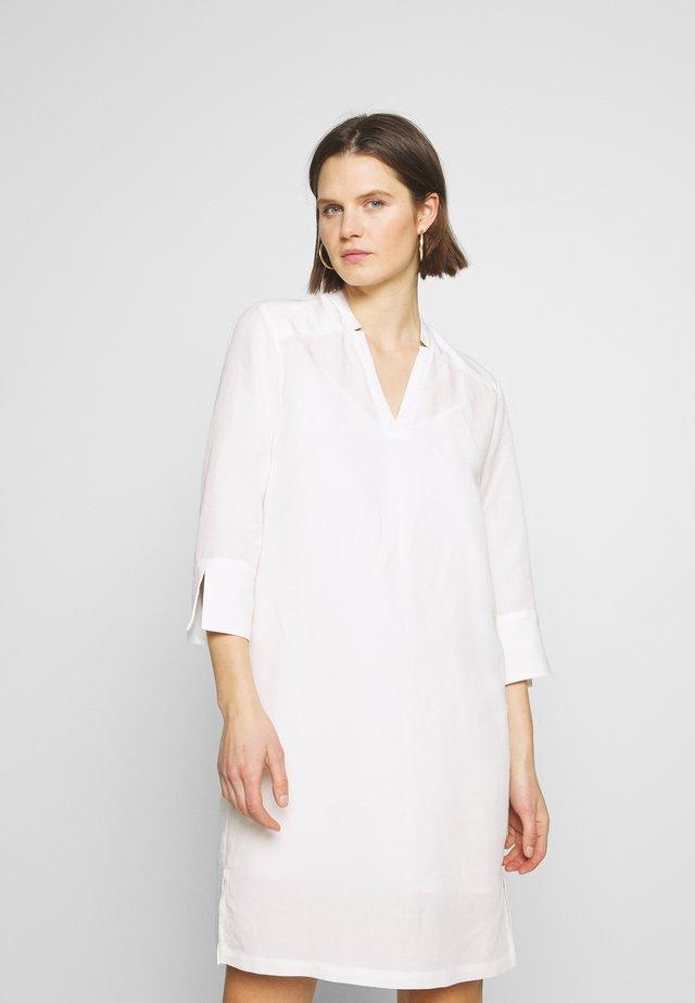 MIJA DRESS WIDE BODY FIT LONG SLEEVES - Day dress - clear white