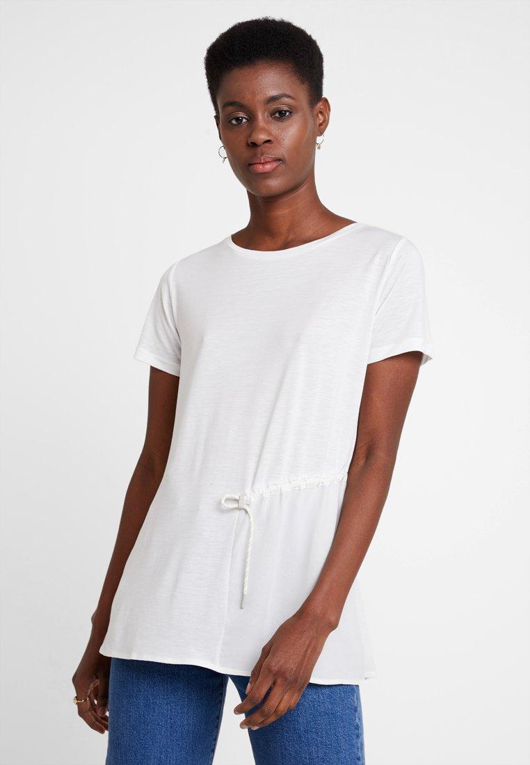 Marc O'Polo PURE - SHORT SLEEVE LONG BODY - T-shirt print - clear white