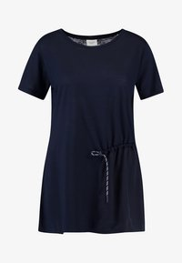Marc O'Polo PURE - SHORT SLEEVE LONG BODY - Print T-shirt - pure navy - 3