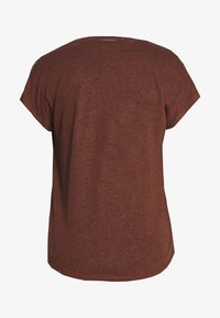 Marc O'Polo PURE - MIJA  V NECK CUT ON SLEEVE ROUNDED - T-shirts basic - dark chocolate - 1
