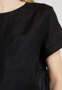 Marc O'Polo PURE - BLOUSE STYLE ROUND NECK - Blouse - black - 6