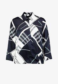 Marc O'Polo PURE - BLOUSE WRAP DETAIL KENT COLLAR - Skjorta - white - 5