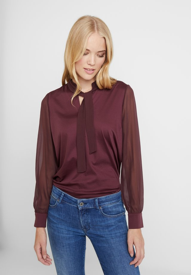 BLOUSE LONG SLEEVE - Blouse - deep plum