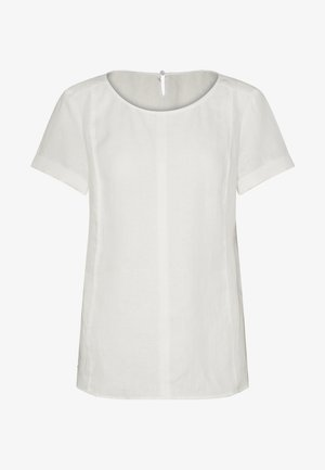 SHORT SLEEVE LOOSE FIT HYBRID STYLE - Bluser - clear white