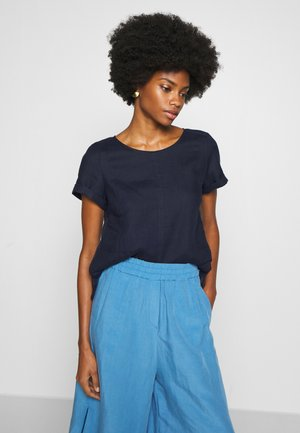 SHORT SLEEVE LOOSE FIT HYBRID STYLE - Blouse - pure navy