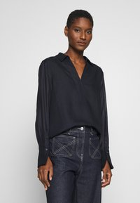 Marc O'Polo PURE - BLOUSE LONG SLEEVE REGULAR FIT A-SHAPE HYBRID STYLE - Bluser - pure navy - 0