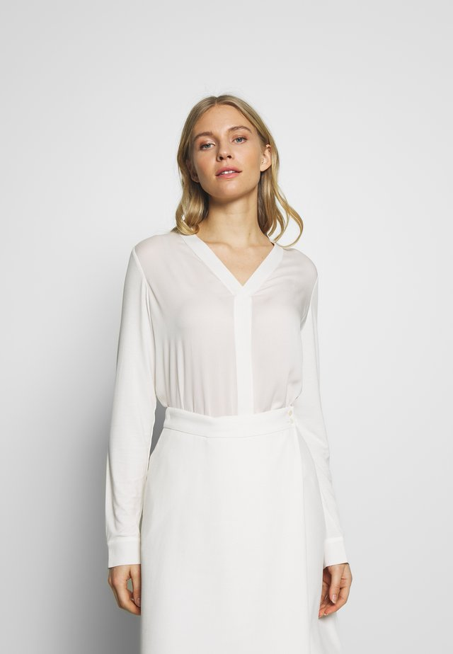 BLOUSE - Blusa - clear white