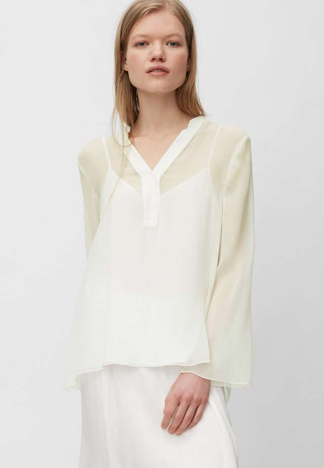 LONG AND WIDE SLEEVES - Bluzka - clear white