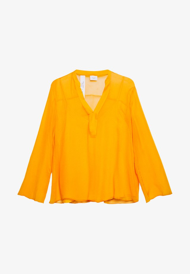 LONG AND WIDE SLEEVES - Blouse - bright orange