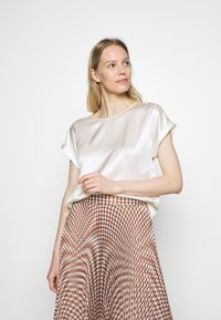 Marc O'Polo PURE - BLOUSE SHORT SLEEVE - Camicetta - natural white - 0