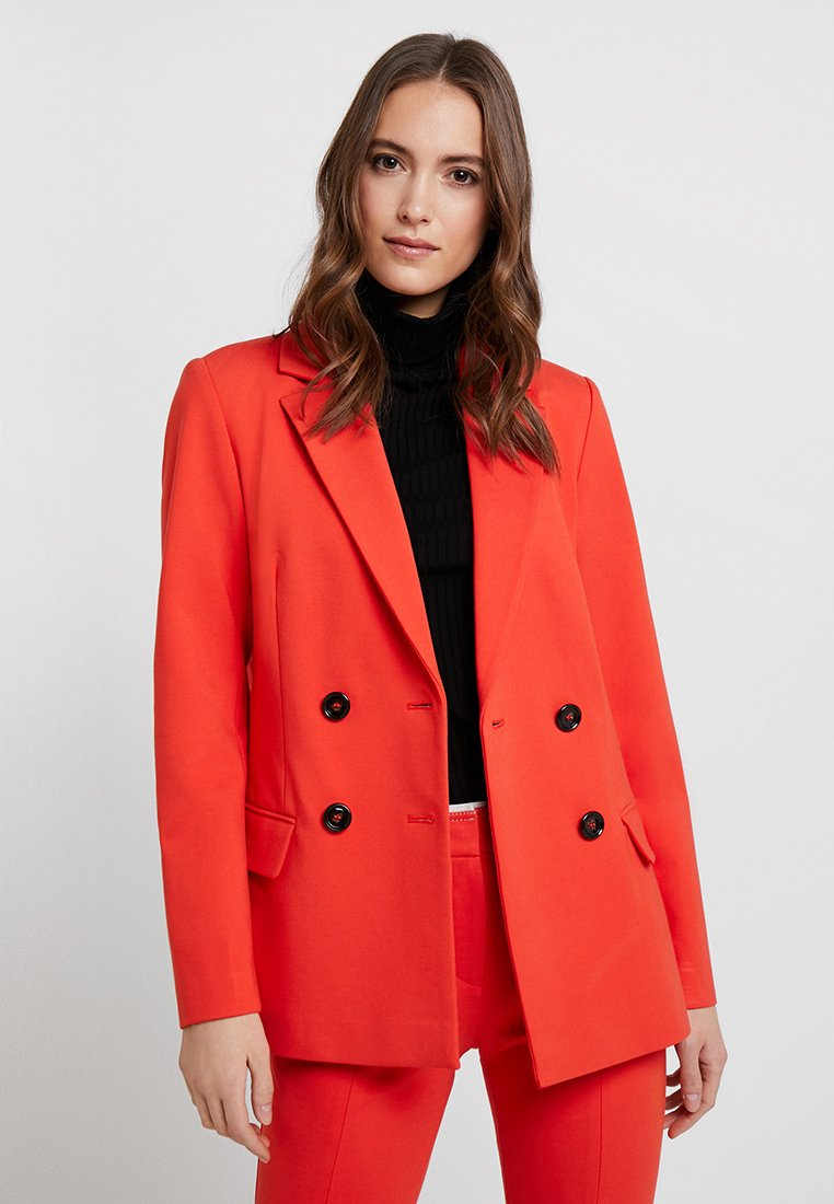 Marc O'Polo PURE - DOUBLE BREASTED BUTTON - Blazer - strong scarlet