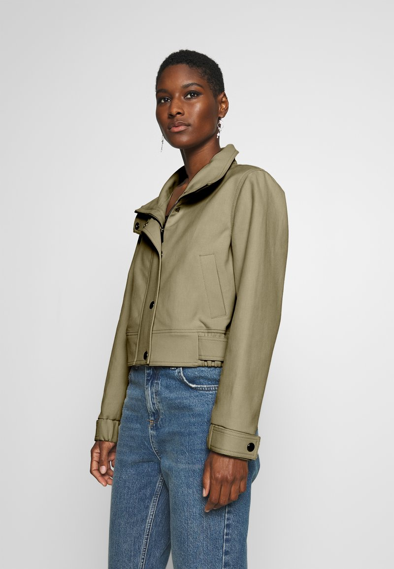 Marc O'Polo PURE - SHORT BIKER JACKET BOXY SHAPE - Veste légère - desert tan