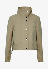 Marc O'Polo PURE - SHORT BIKER JACKET BOXY SHAPE - Veste légère - desert tan - 5