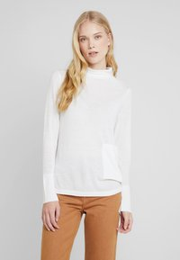 Marc O'Polo PURE - LONG SLEEVE DRAPY NECK - Pullover - natural white - 0