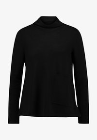 Marc O'Polo PURE - LONG SLEEVE DRAPY NECK - Pullover - pure black - 5