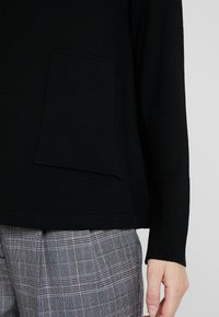 Marc O'Polo PURE - LONG SLEEVE DRAPY NECK - Pullover - pure black - 6