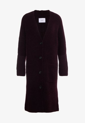CARDIGAN STRAIGHT FIT OVER KNEE - Kofta - deep plum