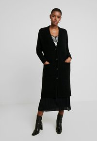 Marc O'Polo PURE - CARDIGAN STRAIGHT FIT OVER KNEE - Cardigan - pure black - 0