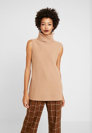 INDOOR  SLEEVELESS - Top - pure camel