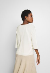 Marc O'Polo PURE - HOODIE PULLOVER, LONG SLEEVE, SUBTLE MINIMAL STRUCTURE - Jersey de punto - natural white - 2