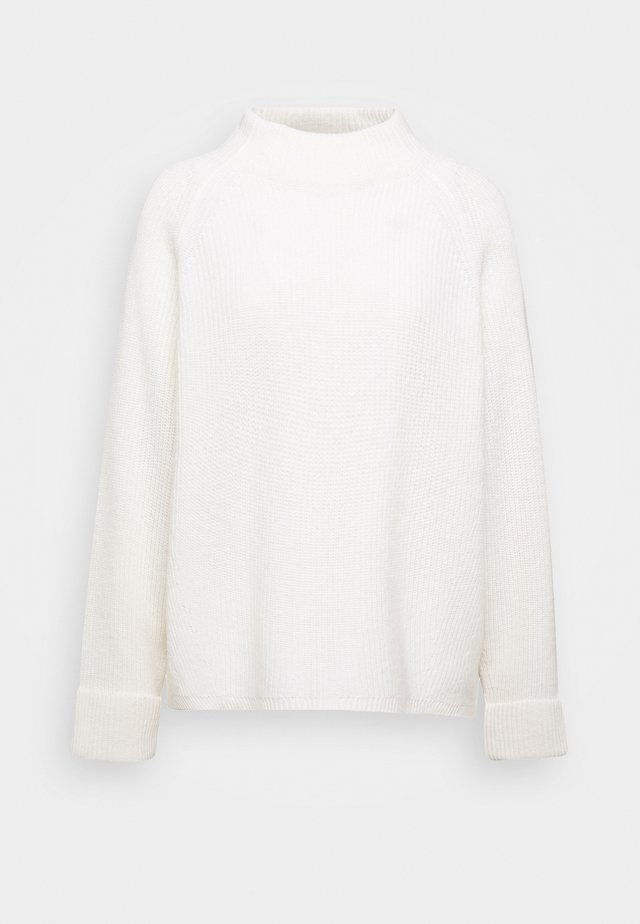 BOXY LONG SLEEVE RAGLAN CROPPED LENGTH - Jumper - winter natural white