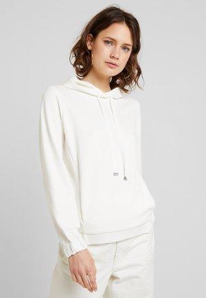 HOODIE TAPE DETAILS - Bluza z kapturem - natural white