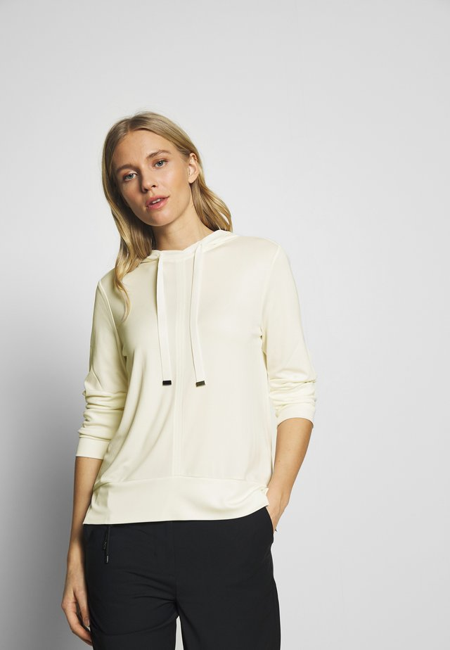 LONG SLEEVE HOODY - Blusa - natural white