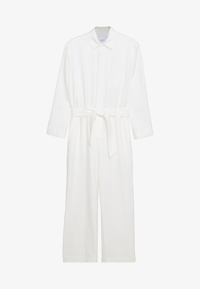 MIJA OVERALL REGULAR WAIST WIDER SLEEVE - Mono - clear white