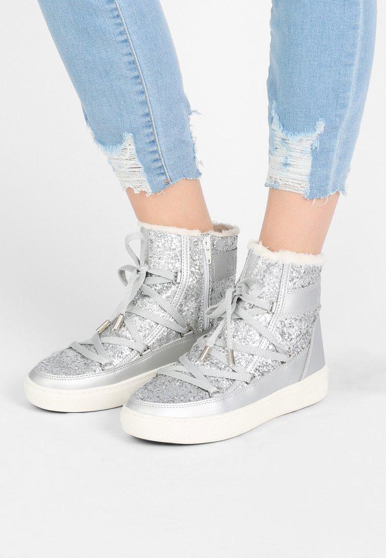 Moon Boot - PULSE GLITTER - Snørestøvletter - silver