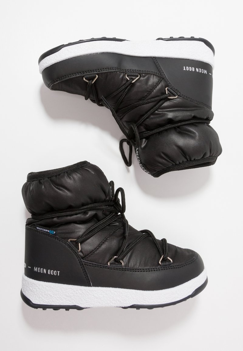 Moon Boot - GIRL LOW WP - Snörstövletter - black