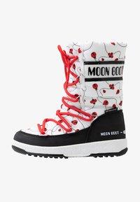 Moon Boot - GIRL LADYBUG WP - Nauhalliset saappaat - black/white/red - 1