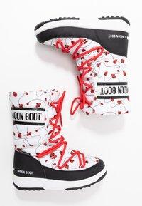 Moon Boot - GIRL LADYBUG WP - Nauhalliset saappaat - black/white/red - 0