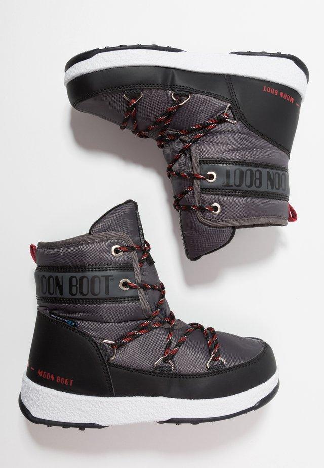 BOY MID WP - Šněrovací kotníkové boty - black/castlerock