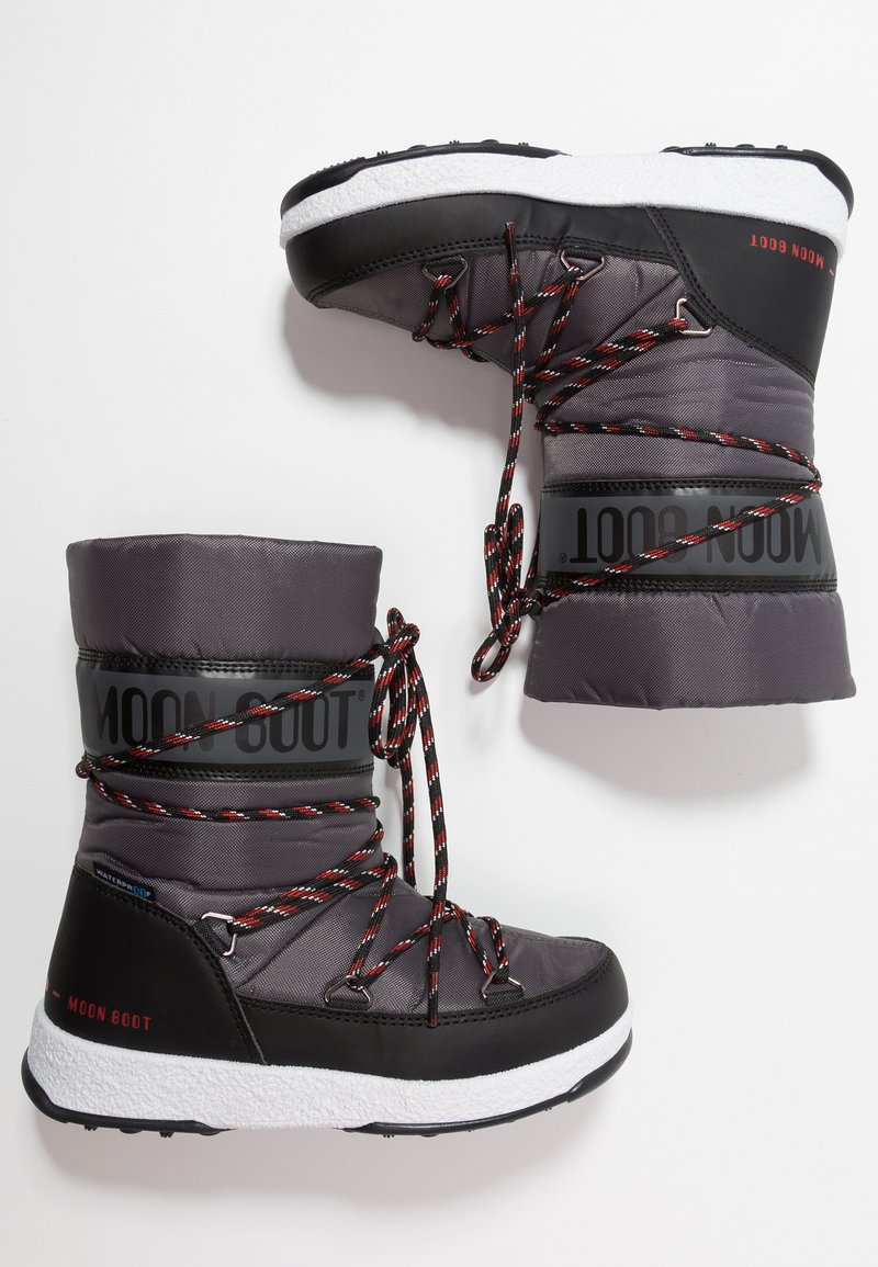 Moon Boot - BOY SPORT WP - Zimní obuv - black/castlerock