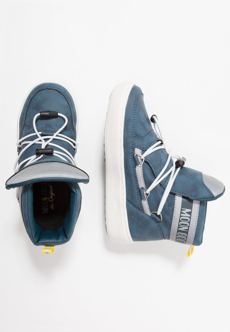 Moon Boot - PULSE BOY DETROIT - Snørestøvletter - ink blue/silver