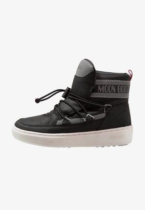 PULSE BOY DETROIT - Lace-up ankle boots - black/silver