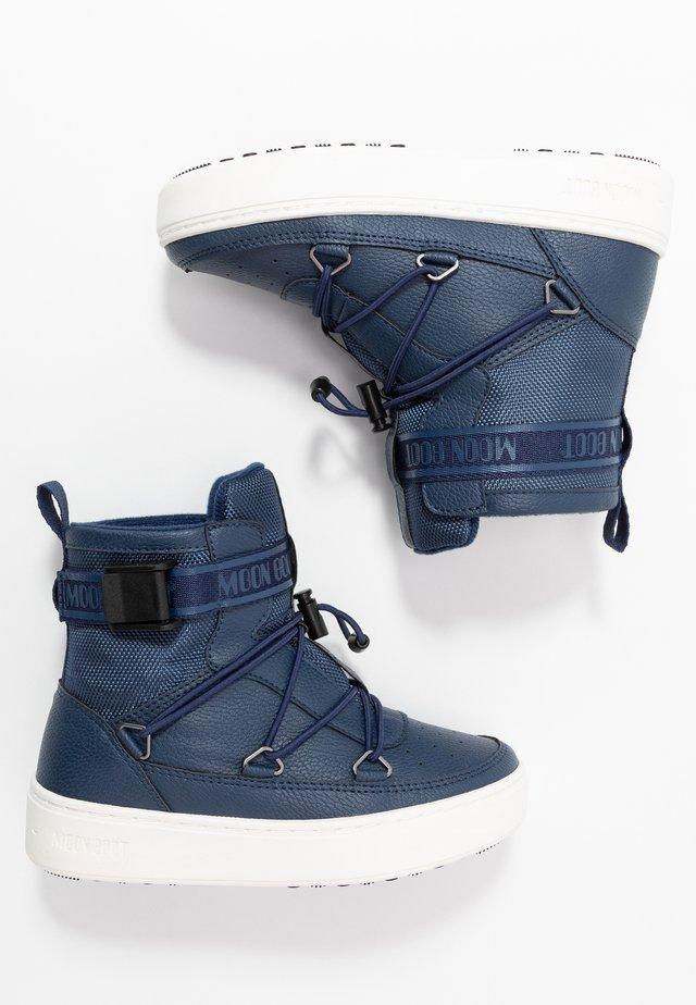 PULSE BOY NEWYORK - Stivali da neve  - blue/navy/white