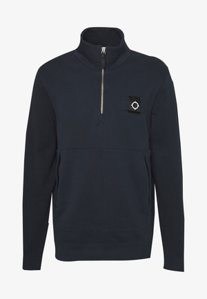 TRAINING QUARTER ZIP - Mikina - dark navy