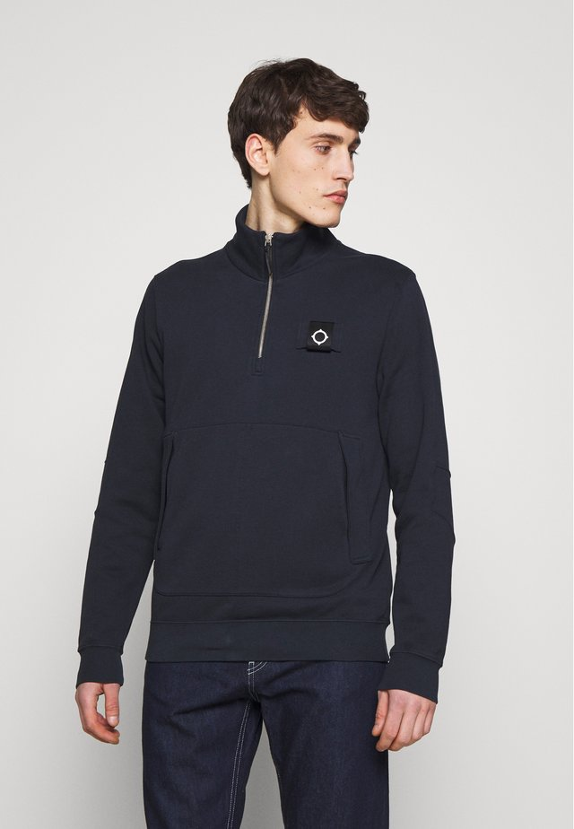 TRAINING QUARTER ZIP - Bluza - dark navy
