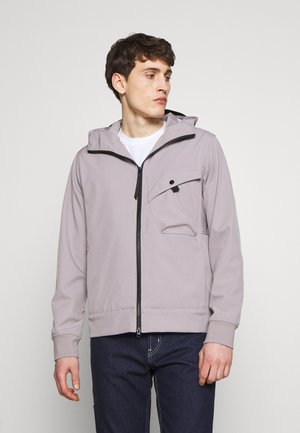 HOODED JACKET - Impermeabile - quicksilver