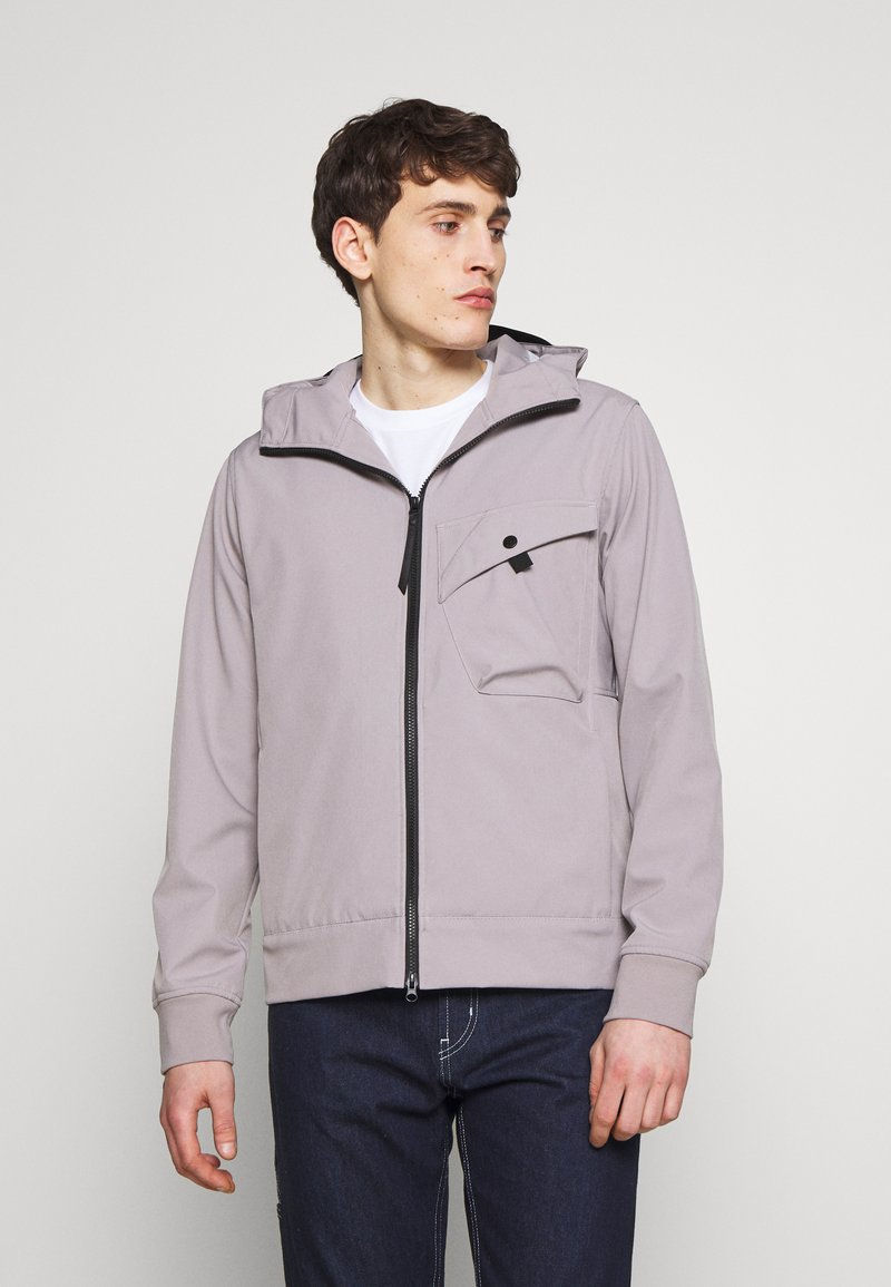 Ma.strum - HOODED JACKET - Impermeable - quicksilver