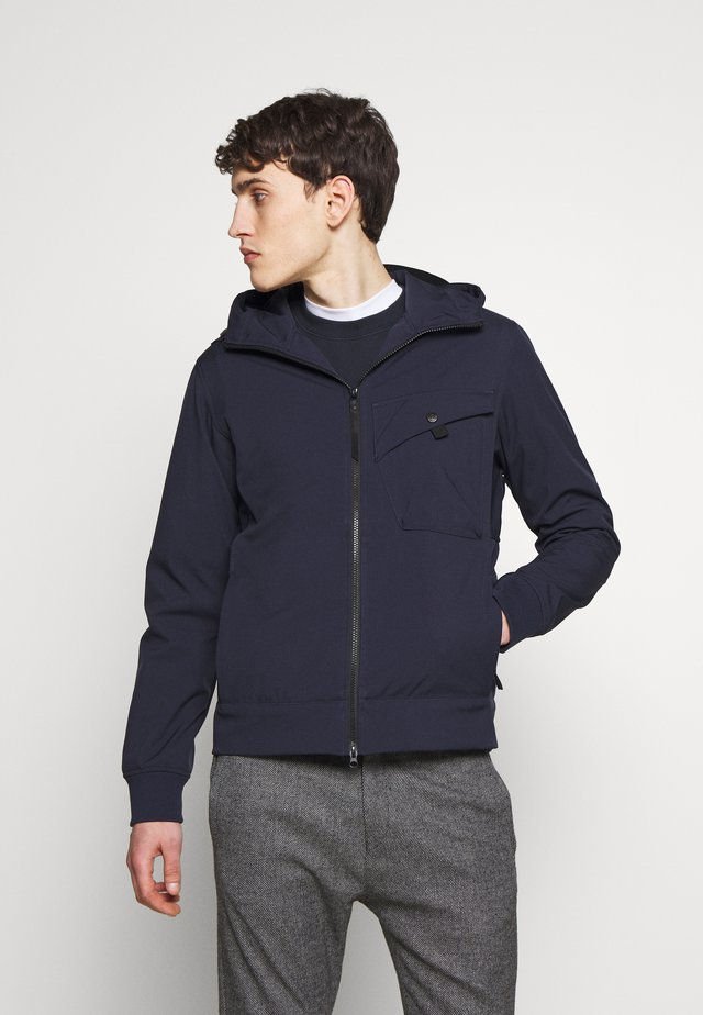 HOODED JACKET - Regnjacka - true navy