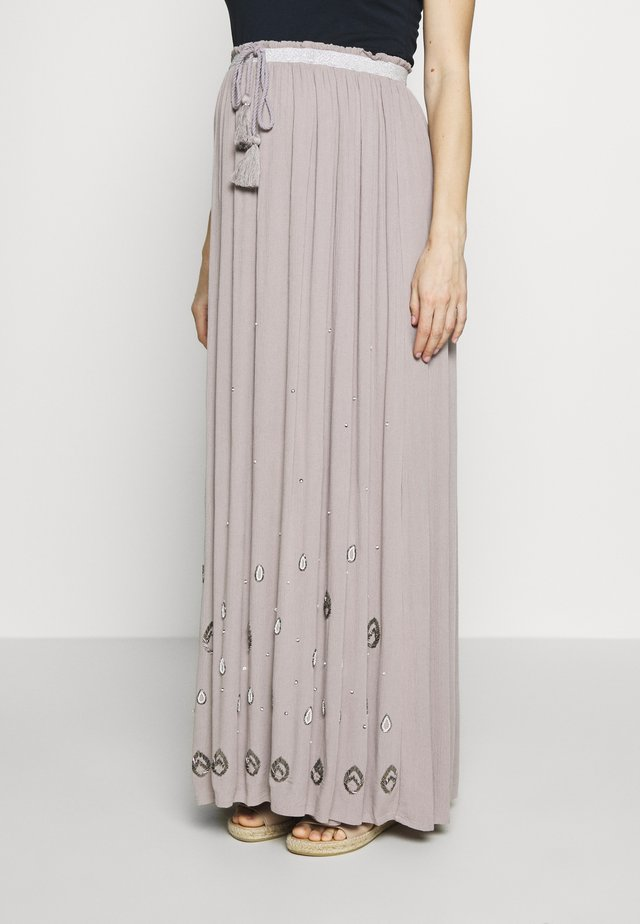 Maxi skirt - light grey