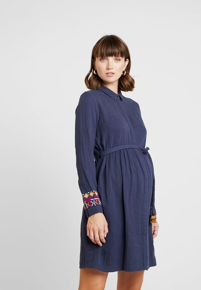 COLOURFUL SHADOW - Blusenkleid - blue grey