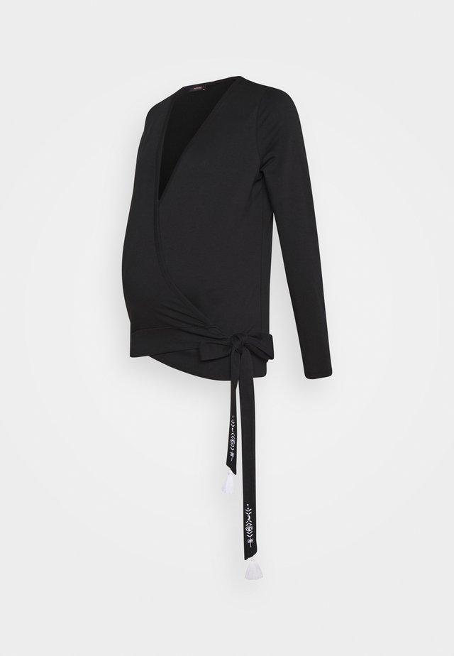 WILD HEART - Maglietta a manica lunga - black
