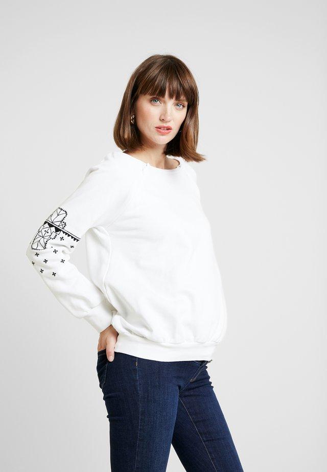 ROUGH - Sweatshirt - white