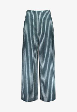 KAVUTA - Trousers - green/turquoise/off white